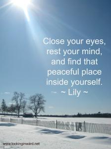Peaceful place inside yourself