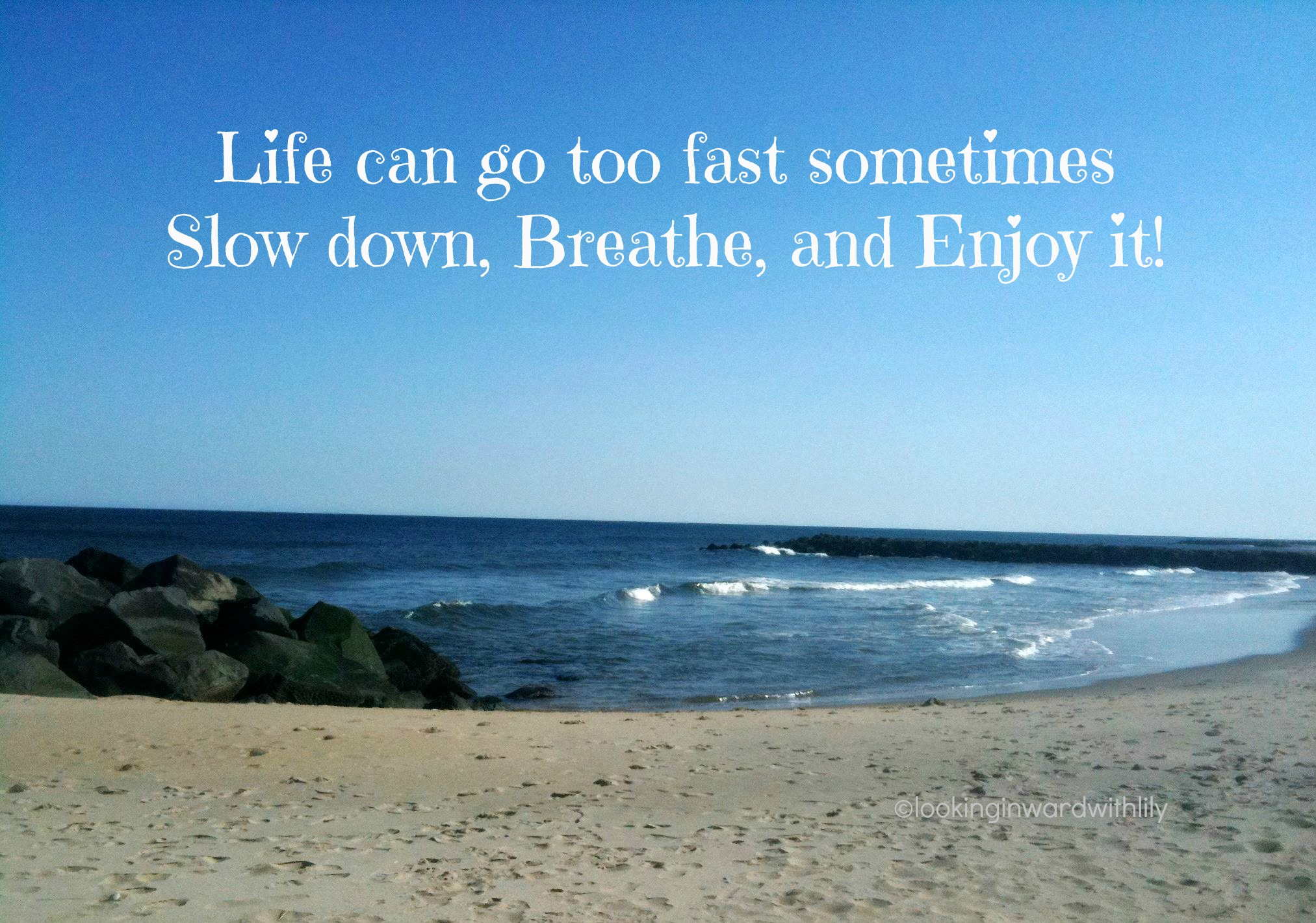 Slow Down Breathe And Enjoy Life Looking Inward With Lily